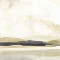 Slate Horizon I Framed Print