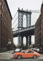 By the Manhattan Bridge Framed Print