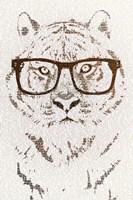 Hipster Tiger Fine Art Print
