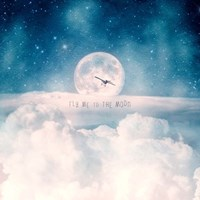 Moonrise Over the Clouds Fine Art Print