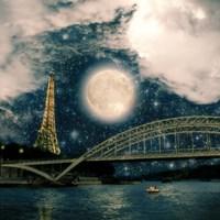 One Starry Night in Paris Framed Print