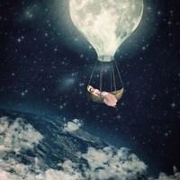 The Moon Carries Me Away Fine Art Print