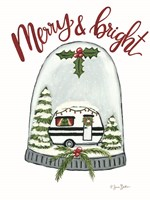 Merry and Bright Camper Framed Print