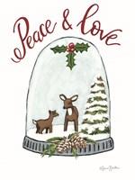 Peace and Love Deer Framed Print