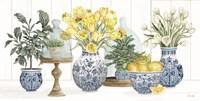 Chinoiserie Lemon Set Fine Art Print