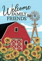 Welcome Family & Friends Barn Framed Print