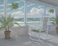 Coastal Porch I Framed Print