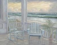 Coastal Porch II Framed Print
