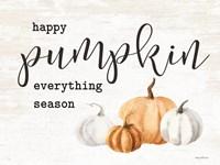 Happy Pumpkin Everything Season Framed Print