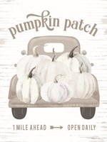 Pumpkin Patch Truck Fine Art Print
