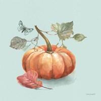Autumn in Nature 04 on Aqua Fine Art Print