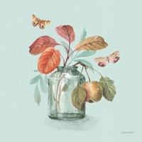 Autumn in Nature 05 on Aqua Framed Print