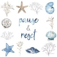 Blue Escape Coastal 10 Framed Print