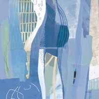 Abstract Layers I Blue Fine Art Print
