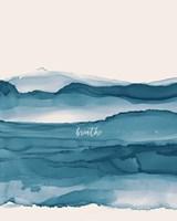 Coastal Ink I Eventide Crop I Breathe Framed Print