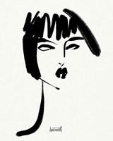 Brush Portrait VIII Framed Print