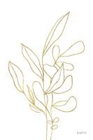Rooted Florals V Gold Framed Print