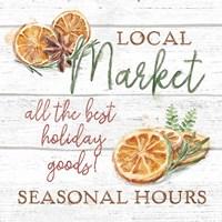 Seasonal Market VII Framed Print