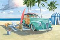 Beach Ride III Framed Print