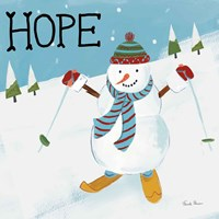 Snowman Snowday V Framed Print