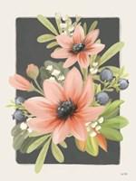 Floral Blueberries II Framed Print