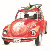 I Have the Bug to Go Surfin' Fine Art Print