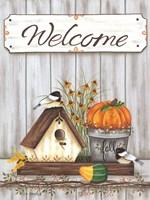 Welcome Fall Framed Print