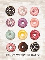 Donut Worry - Be Happy Framed Print