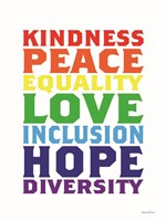 Rainbow Equality Framed Print