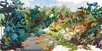 Beth's Garden Framed Print