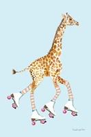Giraffe Joy Ride II Framed Print