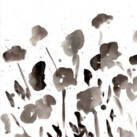 Simple Black Poppies I Framed Print