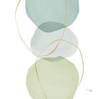 Pastel Circles II Framed Print