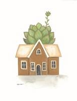 Garden House Cactus Framed Print