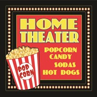 Home Movie Theater Framed Print