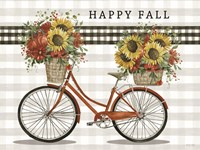 Happy Fall Bicycle Framed Print