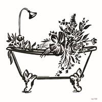 Vintage Floral Tub I Framed Print