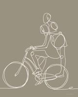 Friend on a Bike II Framed Print