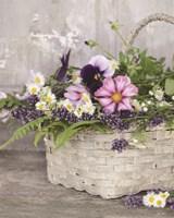 Fresh Garden Basket Framed Print