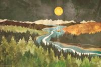 Mountain Moonlight Framed Print
