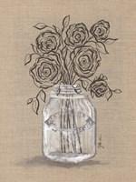 Sketchy Floral 2 Framed Print