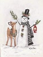 Frosty Friends I Framed Print