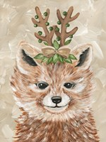 Christmas Fox Framed Print