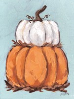 Pumpkin Stack I Framed Print