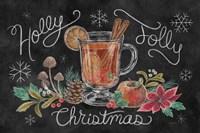 Christmas Chalk VII Framed Print