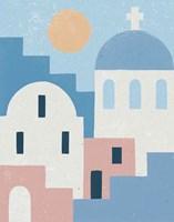 Santorini Summer I Framed Print
