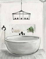 Attic Bathroom II Light Crop Fine Art Print