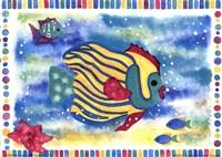 Kissing Fish I Fine Art Print