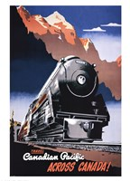 Canadian Pacific Train 1930 Fine Art Print