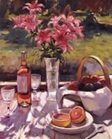 """Pink Flowers by Edward Noott - 8"""" x 10"""""""